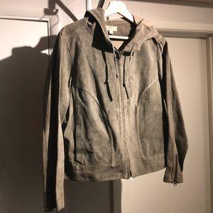 Zip up Suede Light weight Jacket